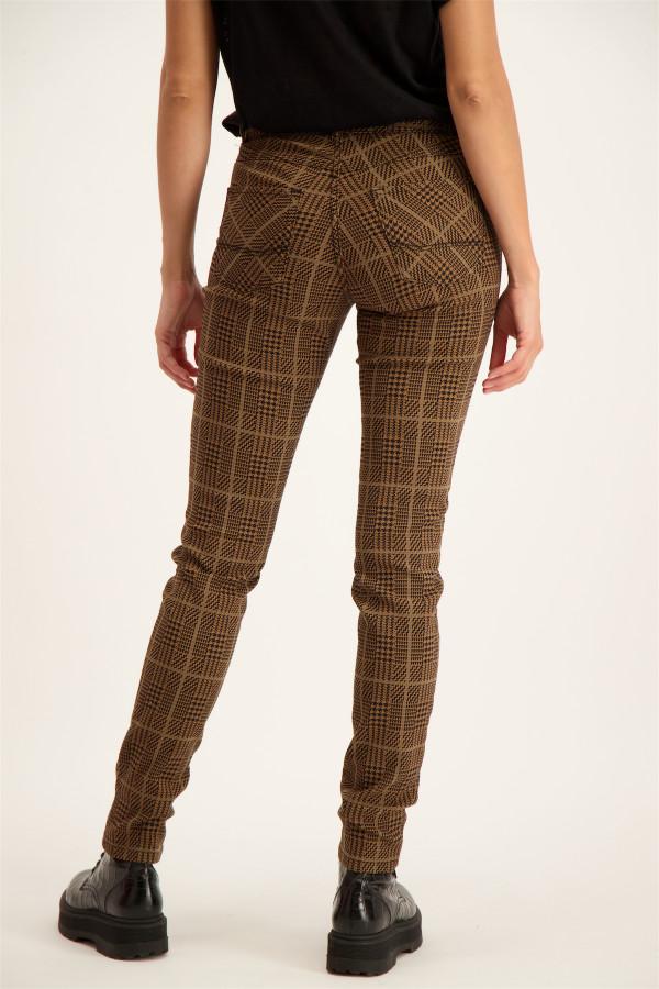 Pantalon skinny à carreaux modèle 5 poches CELINE Para Mi