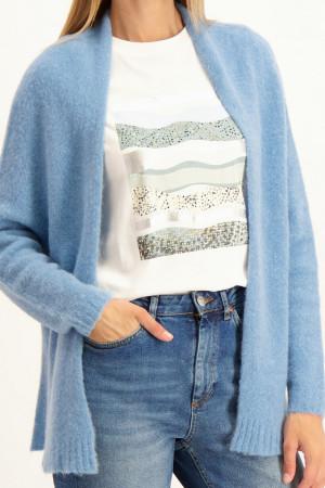 Pantalon ample imprimé graphique taille élastique IRIS Vila