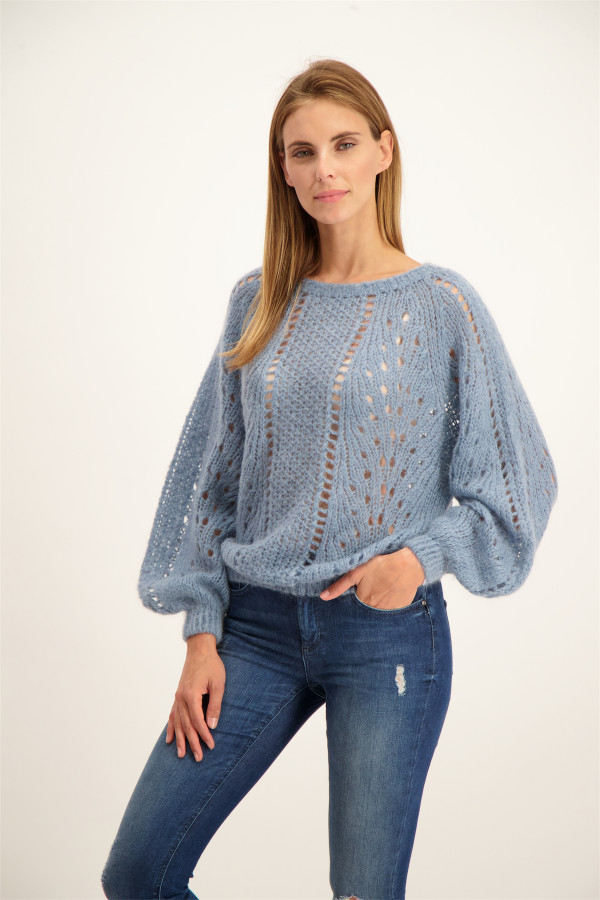 Pull uni en maille chenille LISIA Name It