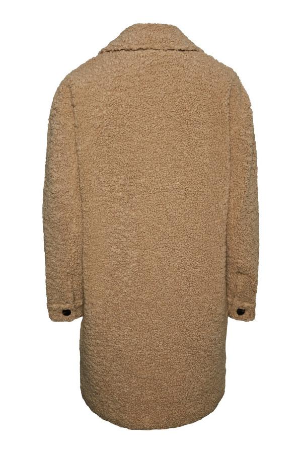 Manteau uni mi-long boutonné en teddy KYLIE Only