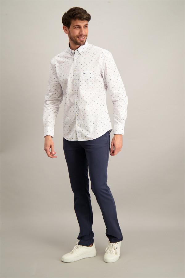Chemise avec motif imprimé et poche poitrine en coton Fynch Hatton