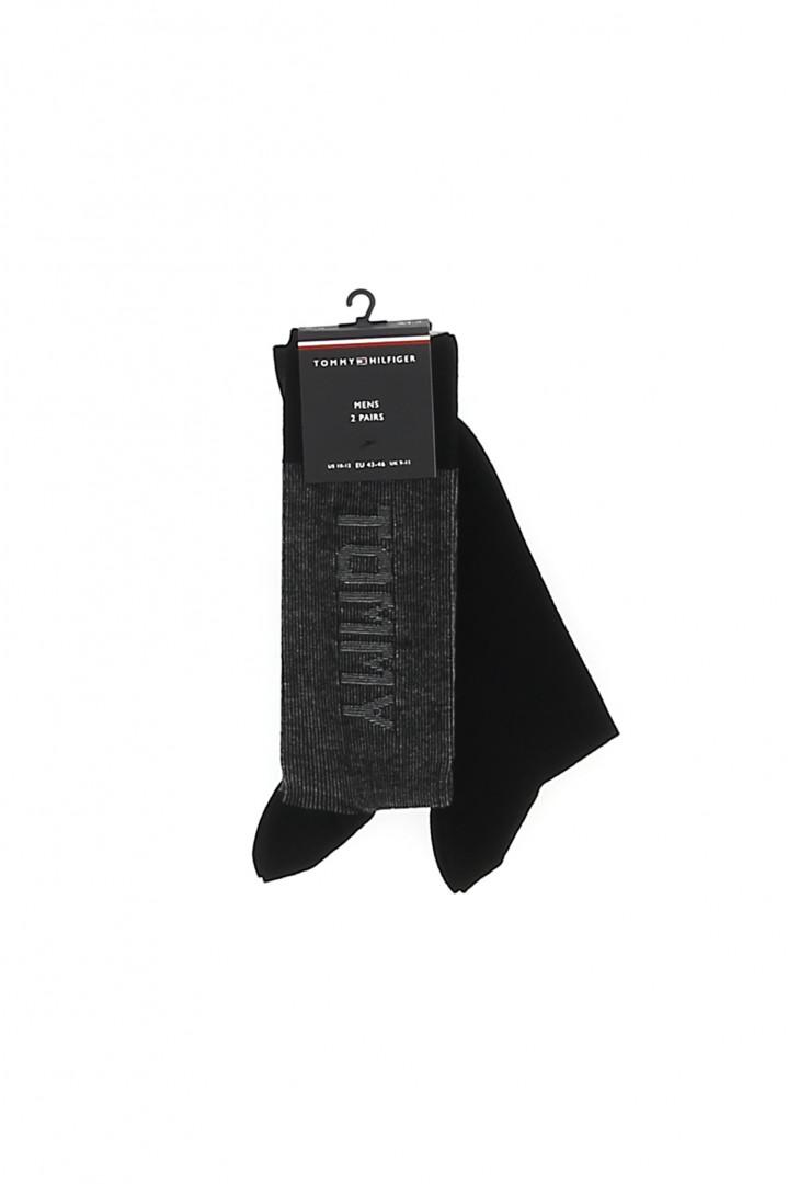 Sweat noir avec logo imprimé poitrine Tommy Hilfiger