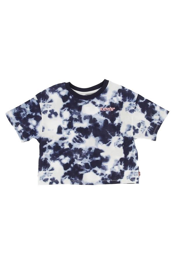 T-shirt court imprimé tie and dye avec broderie poitrine Levi's