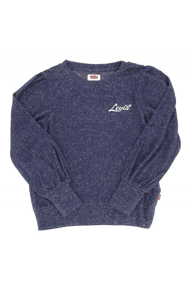 T-shirt laineux imprimé rayé ou chiné logo à la poitrine Levi's