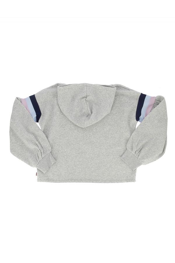 Sweat à capuche uni oversized avec rayures et logo Levi's