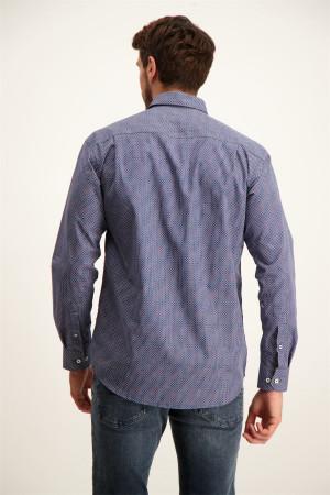 Chemise imprimée géométrique avec poche poitrine Totem