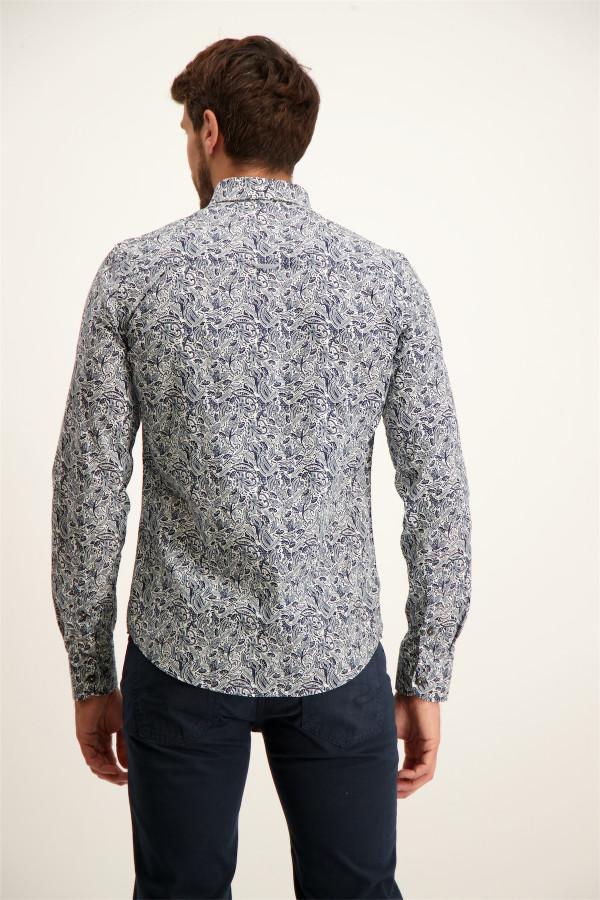 Chemise fleurie en coton avec logo Regular fit J&Joy