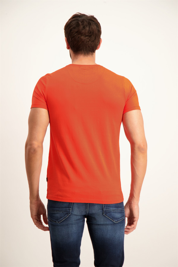 T-shirt en coton imprimé devant manches courtes J&Joy