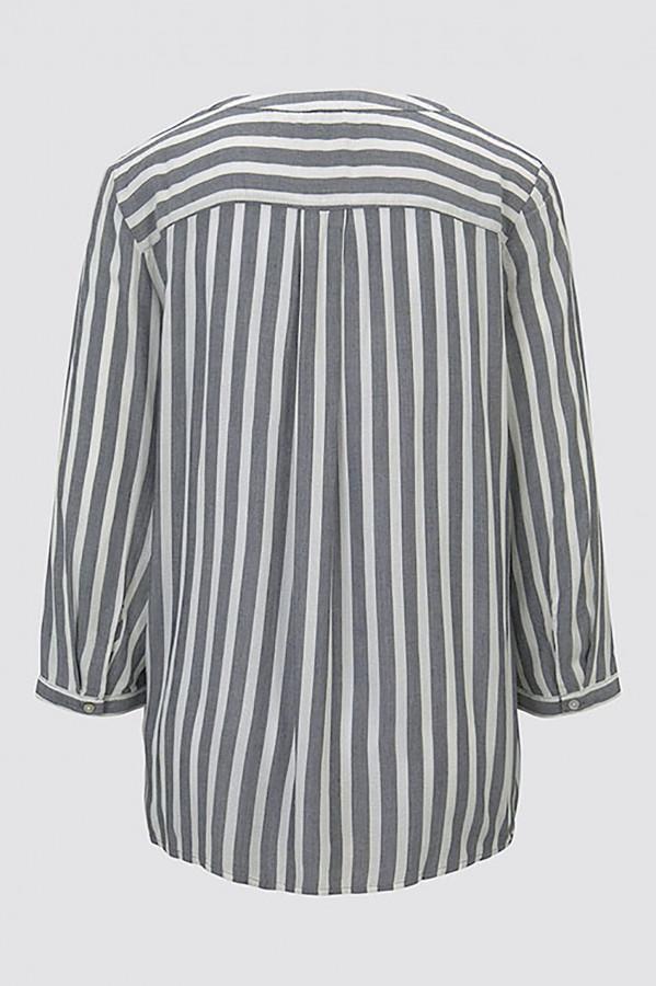 Blouse imprimée rayée avec poches poitrine Tom Tailor