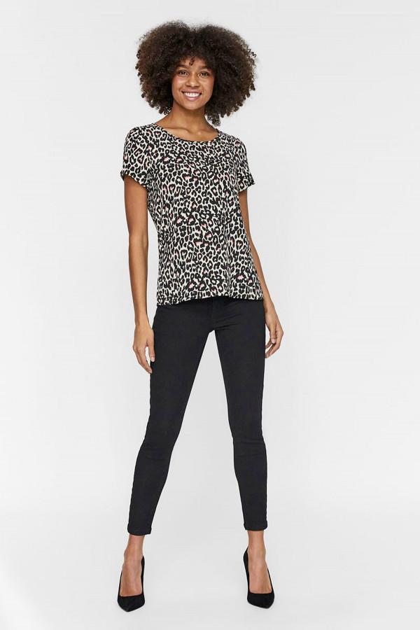 Blouse manches courtes imprimé léopard Vero Moda