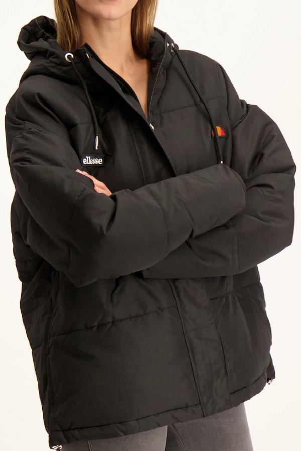 Doudoune unie à capuche avec logo Ellesse