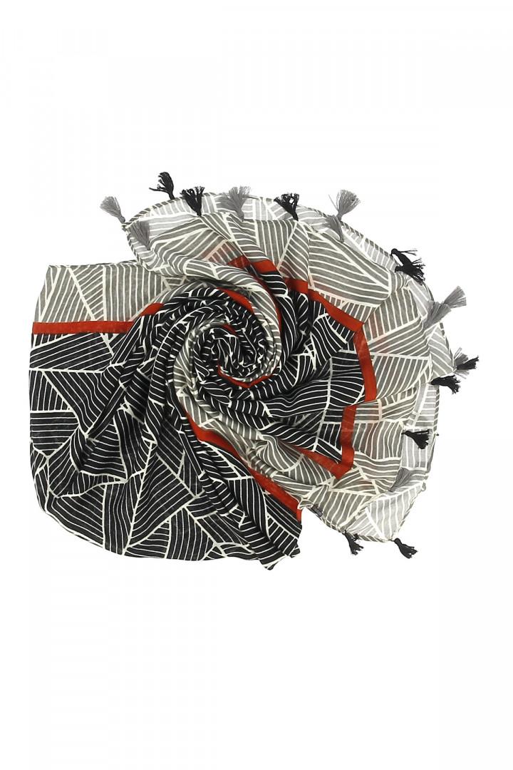 Jupe mi-longue unie plissée sur l'ensemble Amélie & Amélie