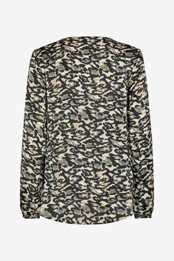Blouse imprimée camouflage en matière naturelle NIOBE Soyaconcept