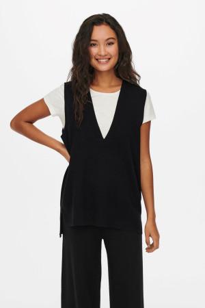 Pantalon noir droit stretch Angela Mac
