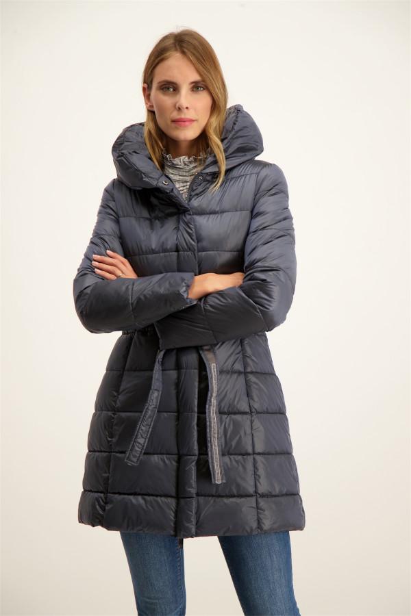 Manteau uni droit mi-long avec poches Signe Nature