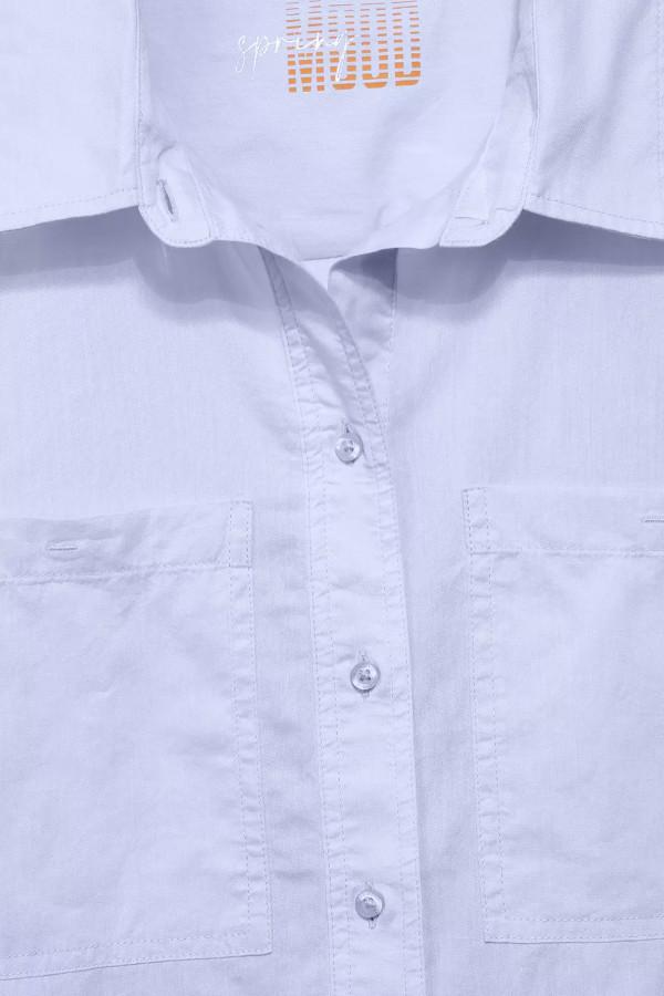 Chemisier uni avec poches poitrine en coton Street One