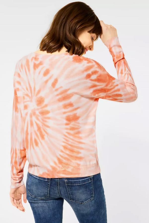 Pull imprimé tie & dye en fine maille Street One