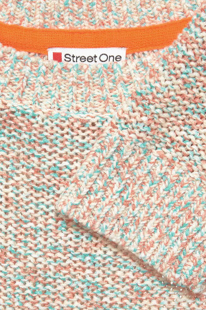 Pull chiné en maille bords côtelés Street One