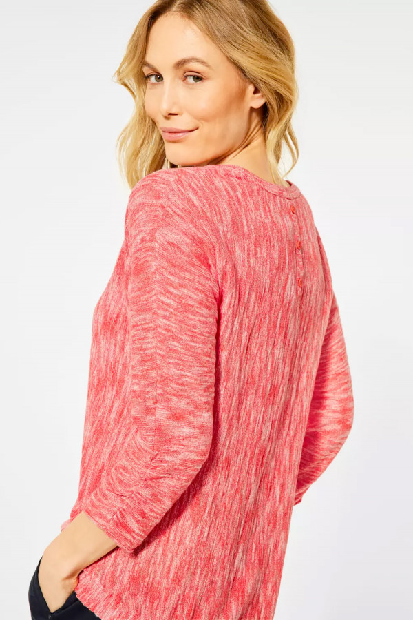 Pull chiné en fine maille manches 3/4 Cecil
