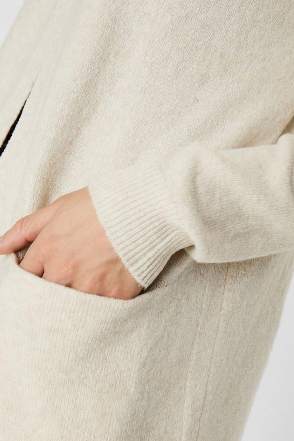 Cardigan uni mi-long en maille avec poches DOFFY Vero Moda