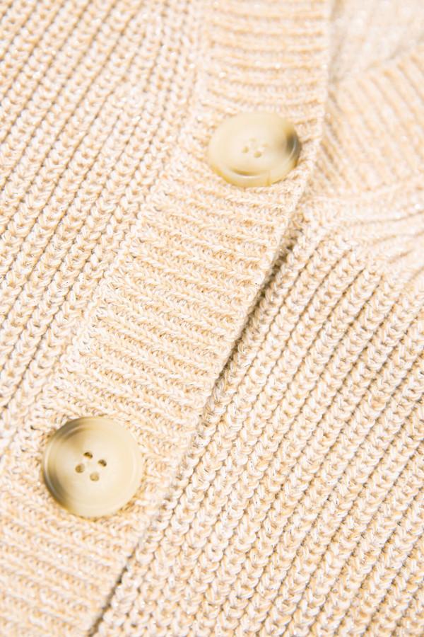Cardigan chiné avec lurex en maille perlée fermeture boutons Garcia