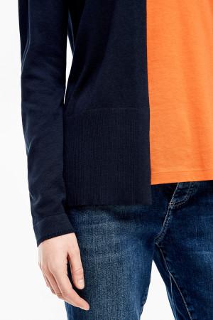 Cardigan uni en fine maille modèle ouvert S.Oliver