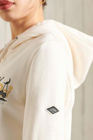 Cardigan à capuche avec poches et impression poitrine ITAGO Superdry
