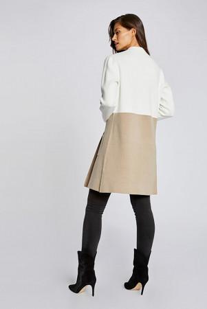 Cardigan mi-long bicolore avec poches MIRABEL Morgan