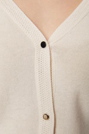 Cardigan uni en fine maille fermeture boutons MIVAL Morgan