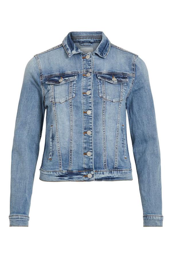 Veste en jean bleu moyen délavé Show Denim Vila