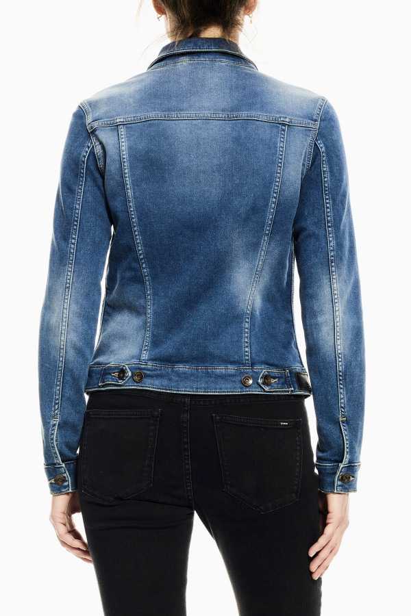 Veste en jean délavée poches poitrine manches longues SOFIA Garcia