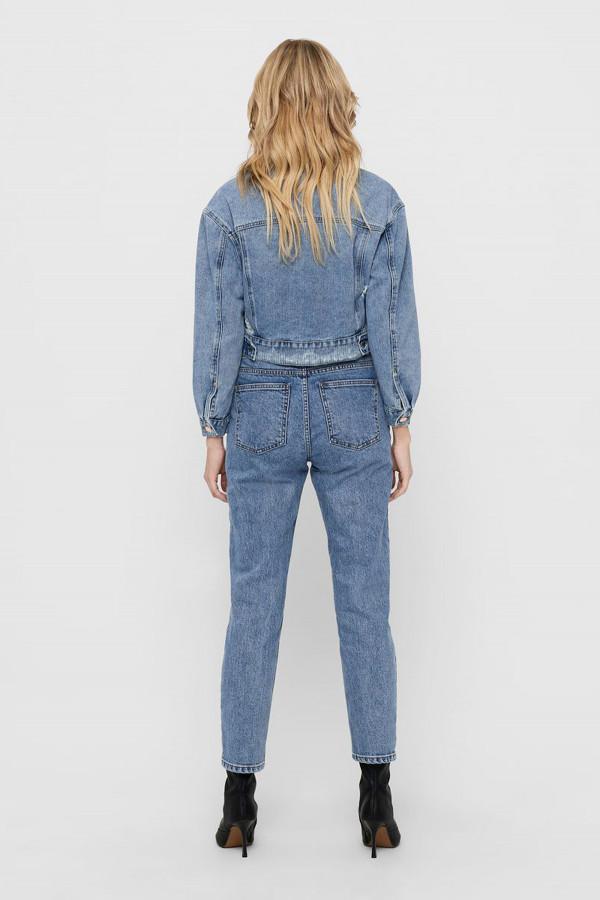 Veste en jean courte délavée en coton MALIBU Only
