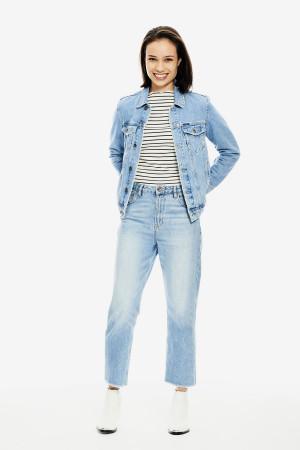 Veste en jean délavée poches poitrine en coton Garcia