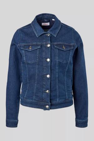 Veste en jean foncé poches poitrine avec rabats S.Oliver